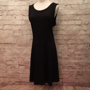 Old Navy Fit & Flare Sleeveless Dress Exposed Zip